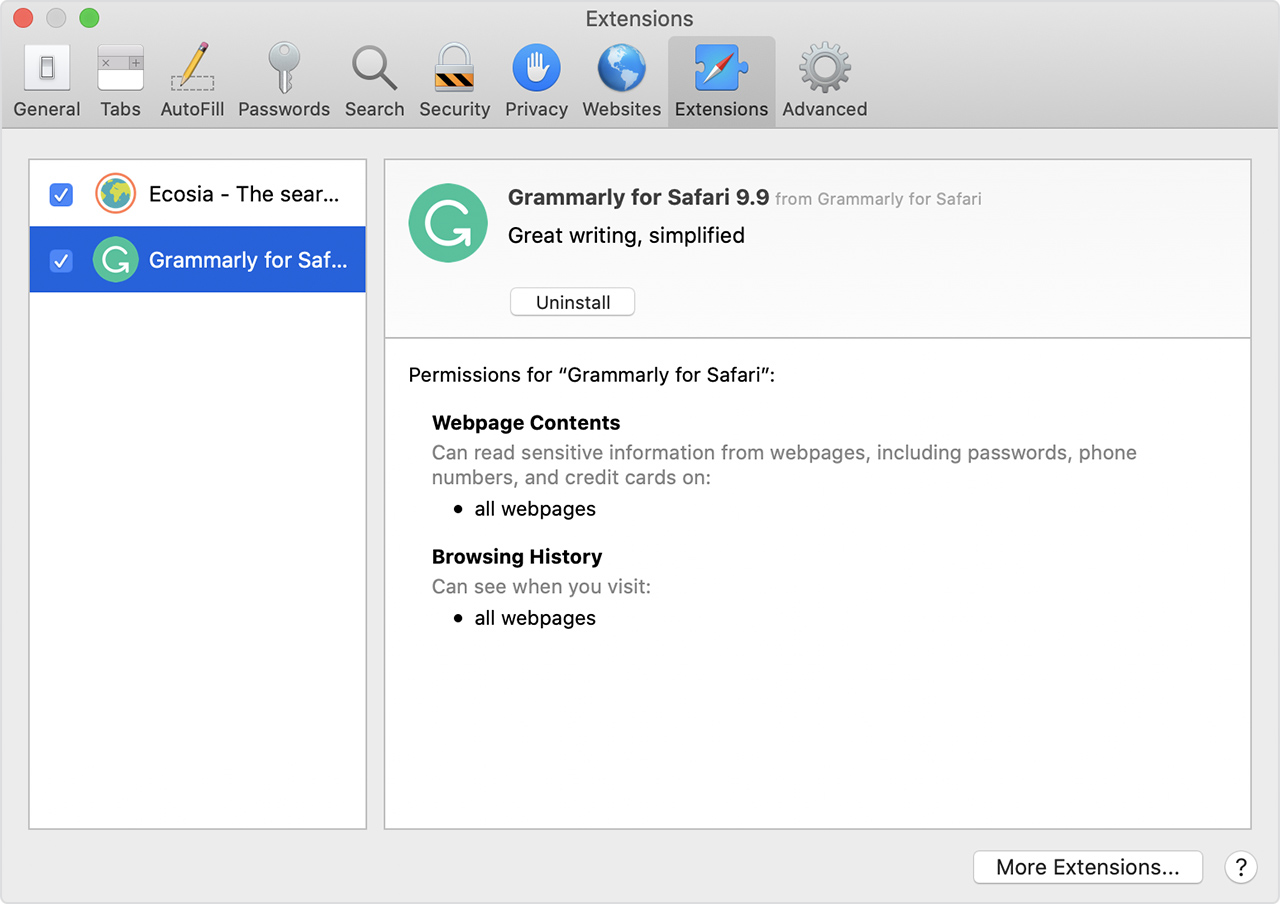 How to install Safari extensions on your Mac - Apple Support