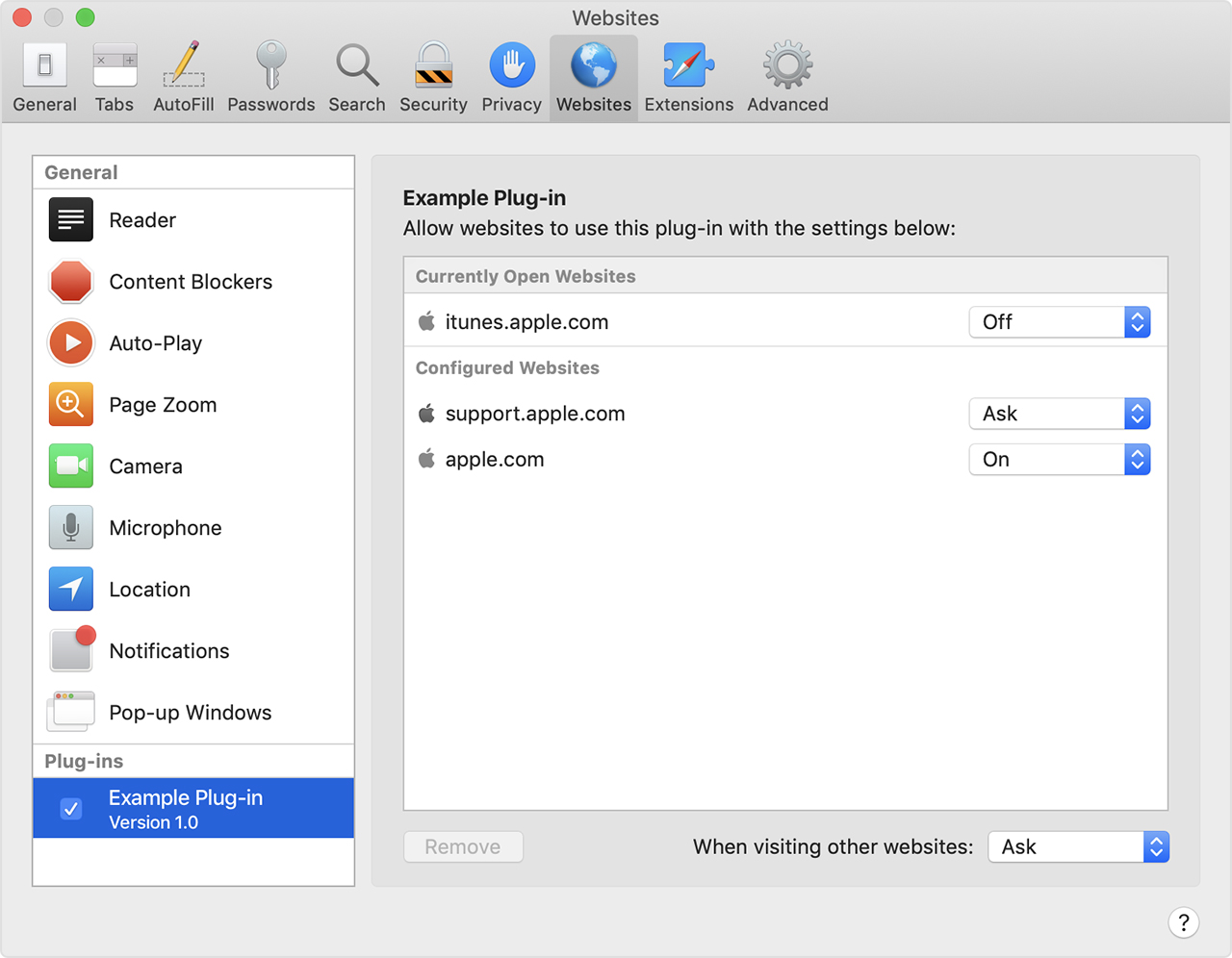 Using Internet plug-ins in Safari for Mac - Apple Support