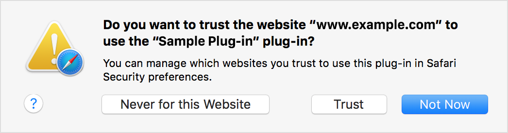 Dialog: Do you want to trust?