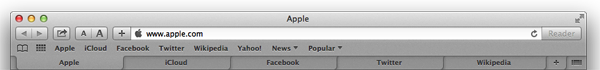 tabs at top of Safari window