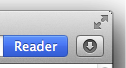 safari reader button
