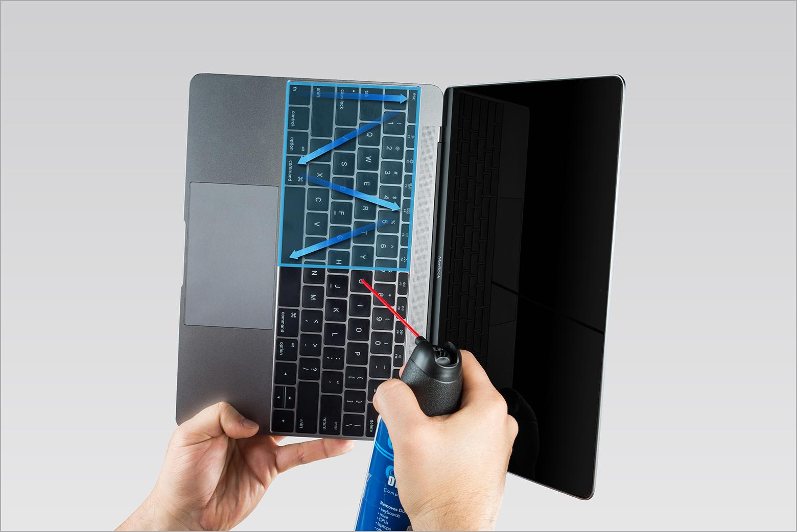 die tastatur ihres macbook oder macbook pro reinigen apple support. Black Bedroom Furniture Sets. Home Design Ideas