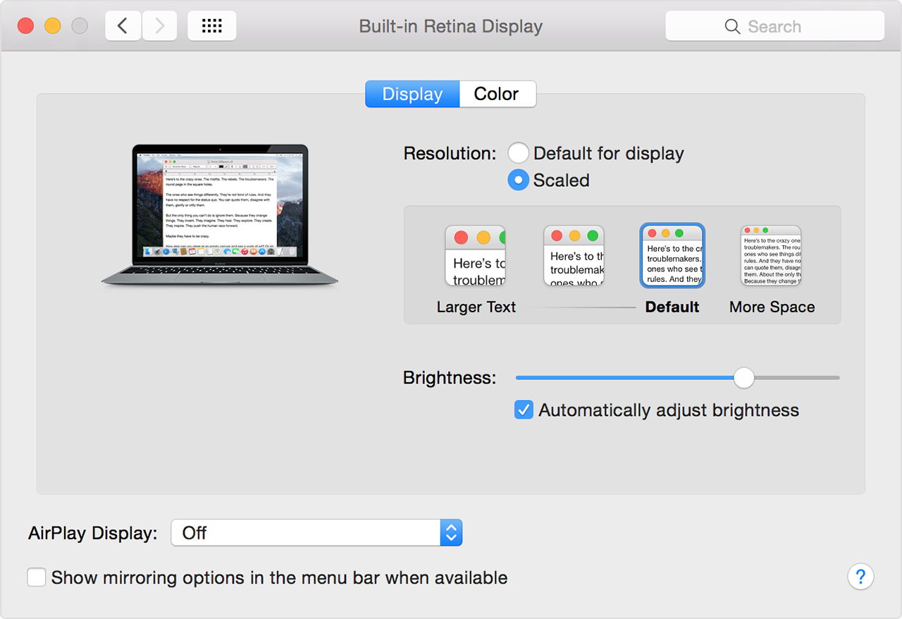 Adjust Your Retina Display's Resolution