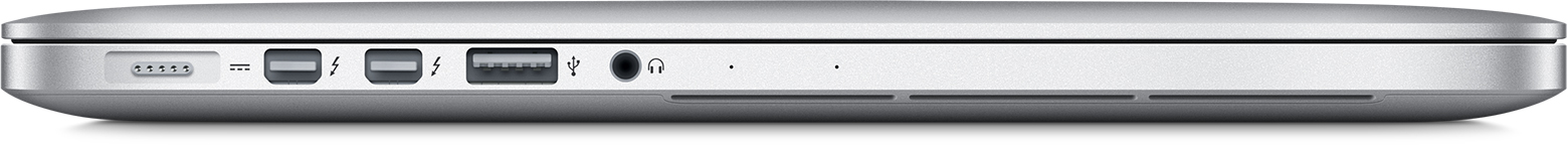 Identify the ports on your mac apple support - Macbook pro 15 retina ports ...