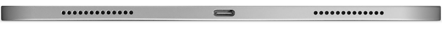 iPad Pro bottom view showing USB-C port