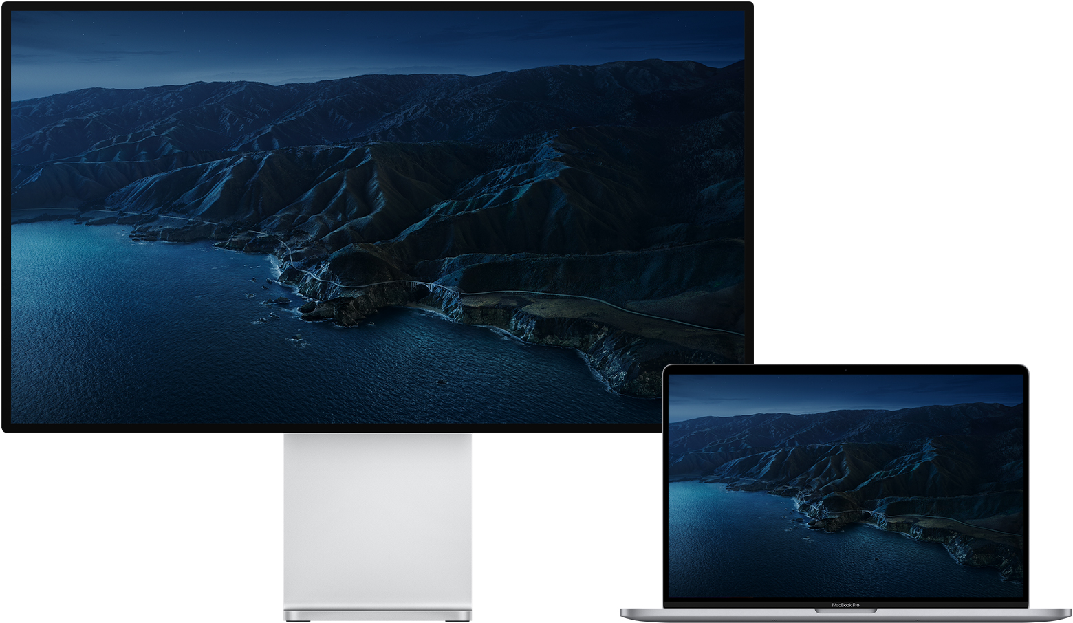 MacBook Pro and Pro Display XDR together showing macOS desktop