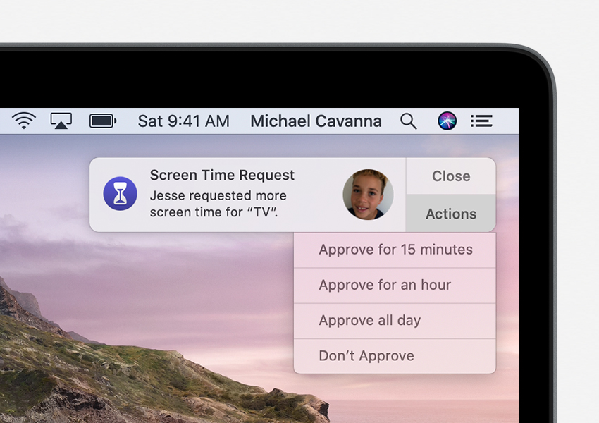 Screen Time: Request notification