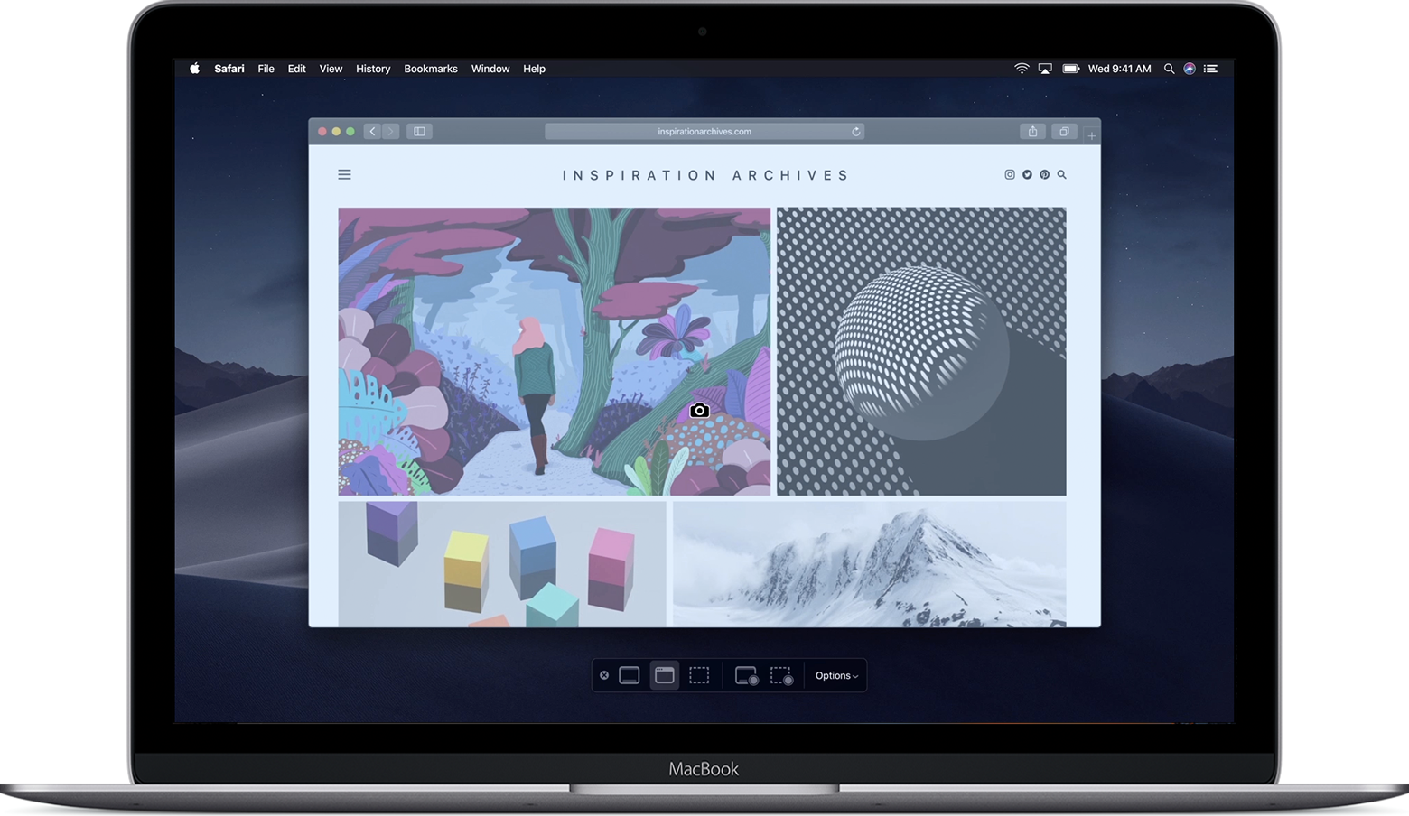 macOS Mojave screenshot controls