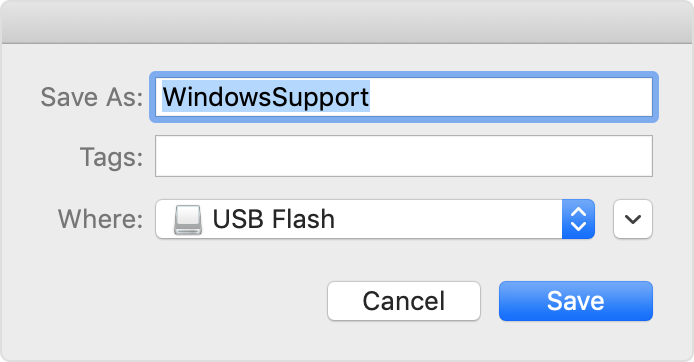 Download and install Windows support software on your Mac