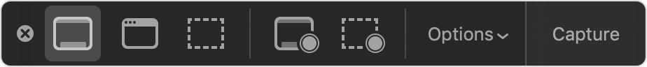 Onscreen capture controls
