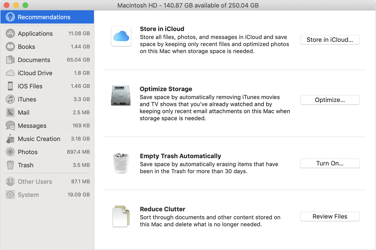 How to free up storage space on your Mac - Apple Support