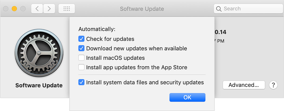 About background updates in macOS Mojave - Apple Support