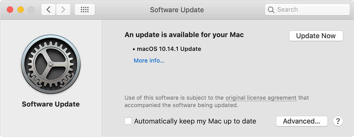 Software Update preferences