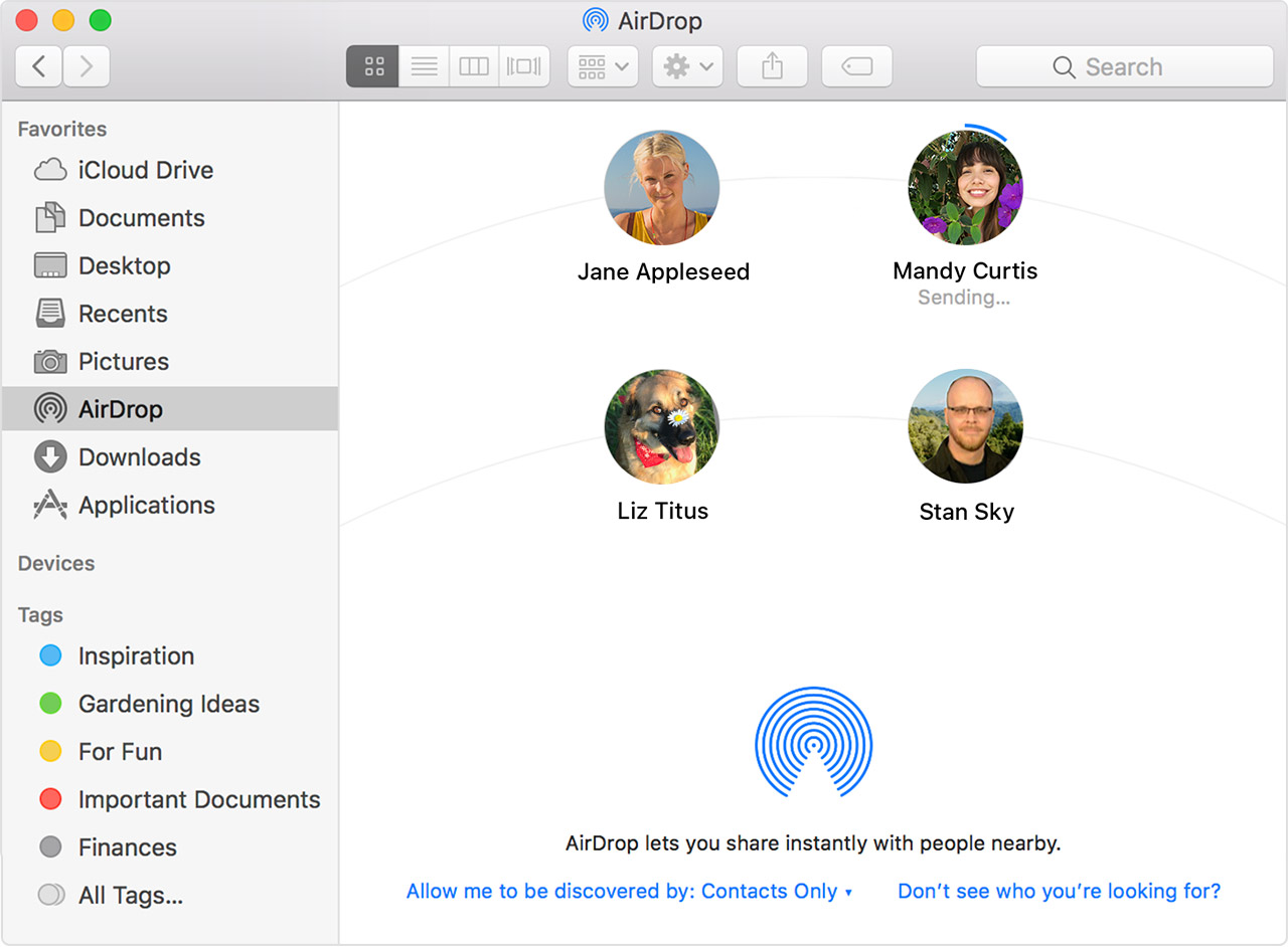 How do i get my iphone contacts onto my mac