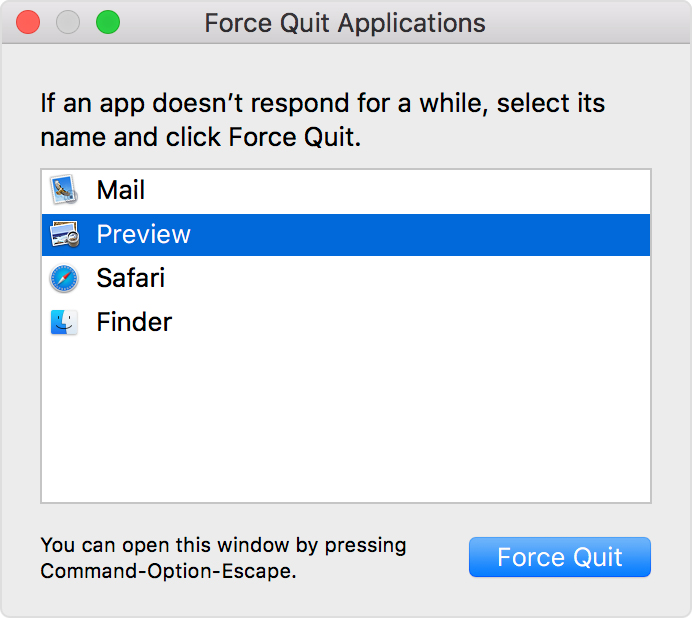 How to force an app to quit on your Mac - Apple Support