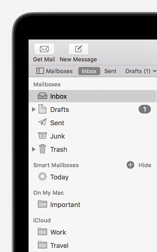 the Mailbox sidebar