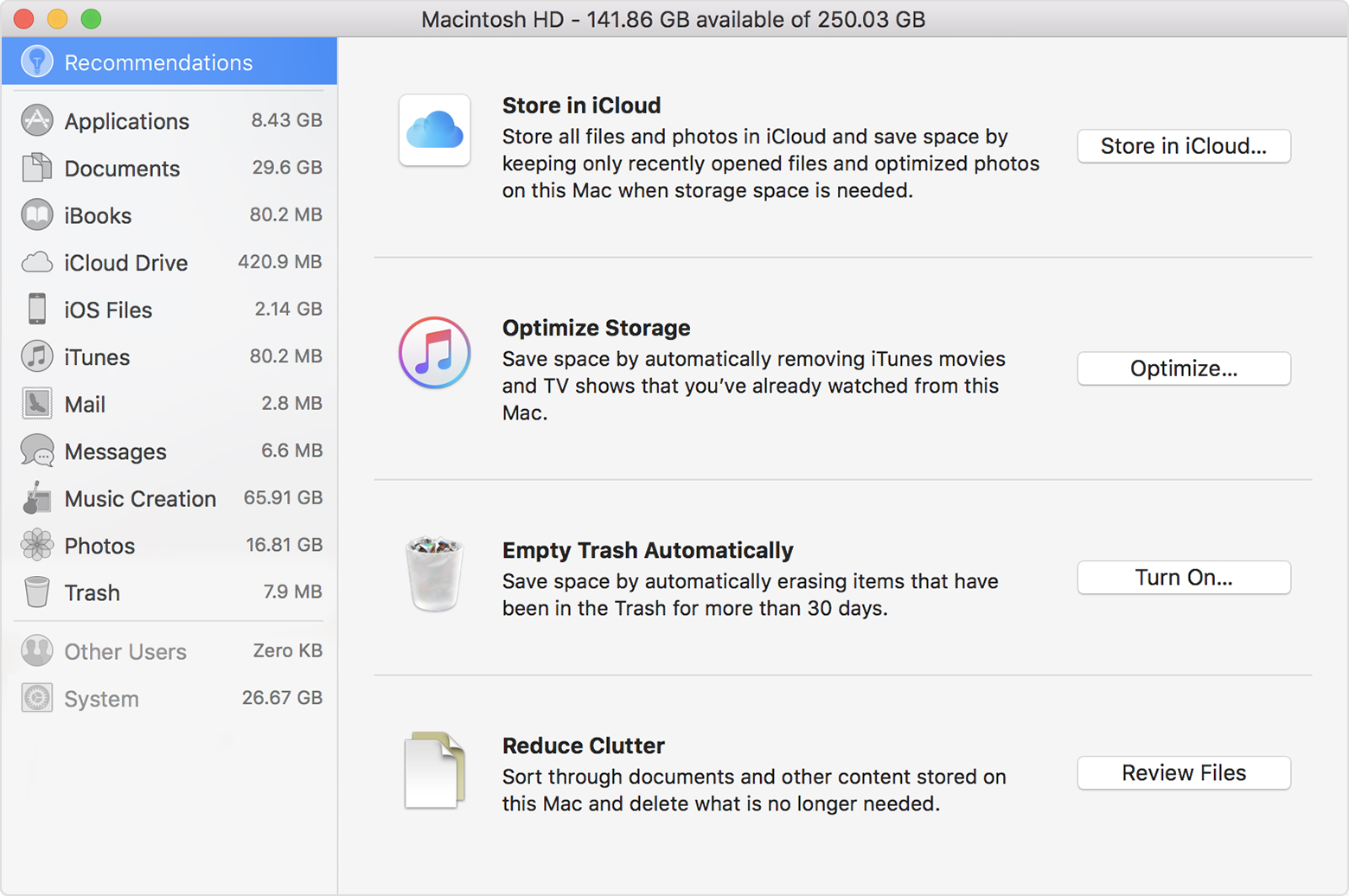 How To Free Up Storage Space On Your Mac Apple Support