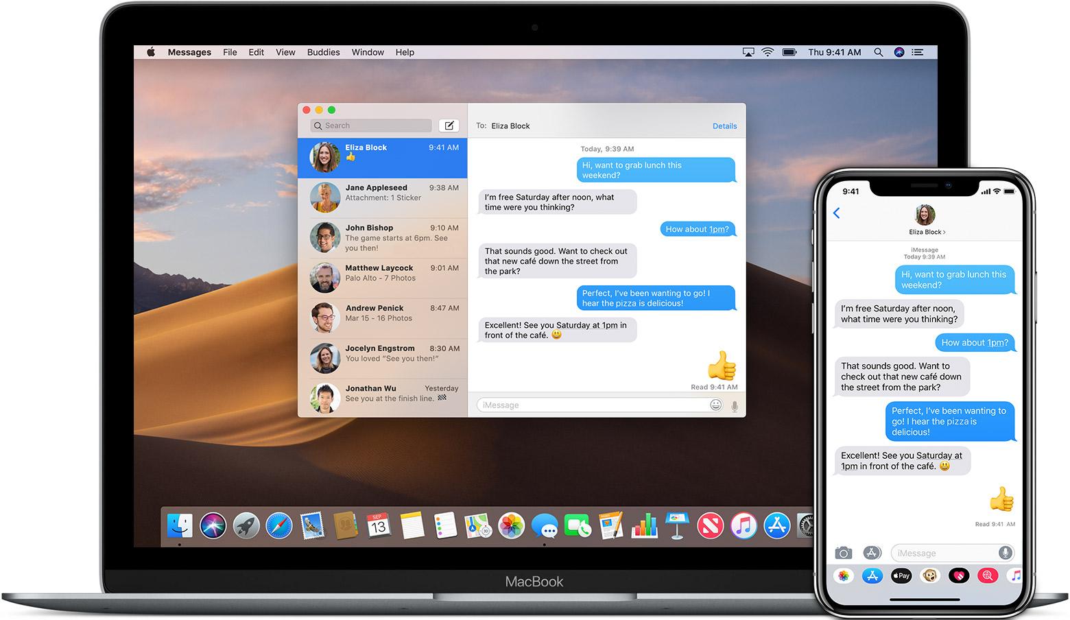 Messages full screenshot