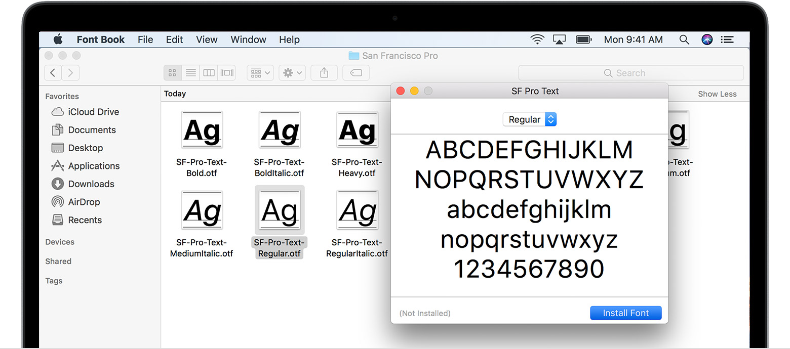 After Your Mac Validates The Font And Opens The Font Book App The Font Is Installed And Available For Use