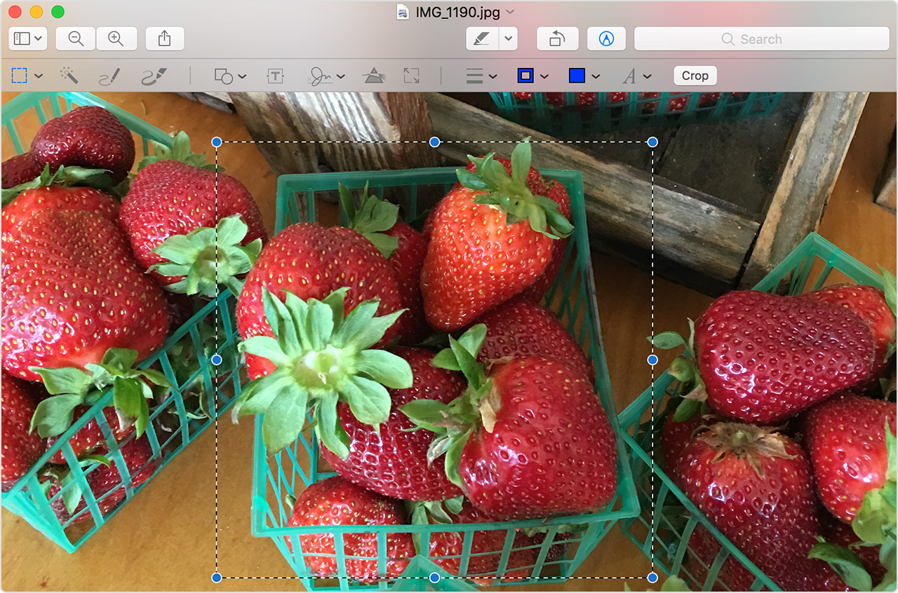 Edit photos in Preview