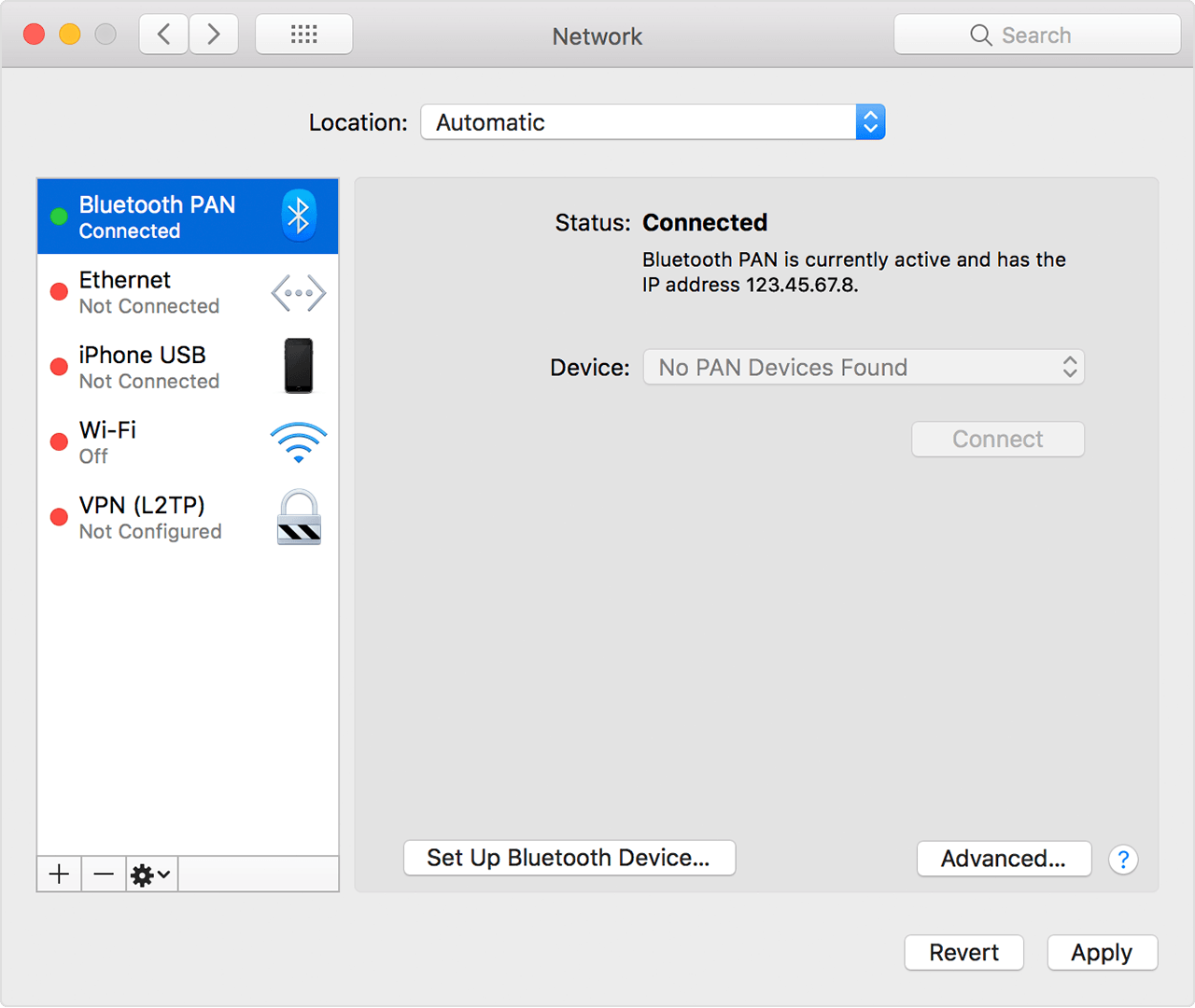 Choose your iOS device that provides Personal Hotspot, then choose Connect  to Network. You can confirm your connection in System Preferences   Network. fa759b86baf7