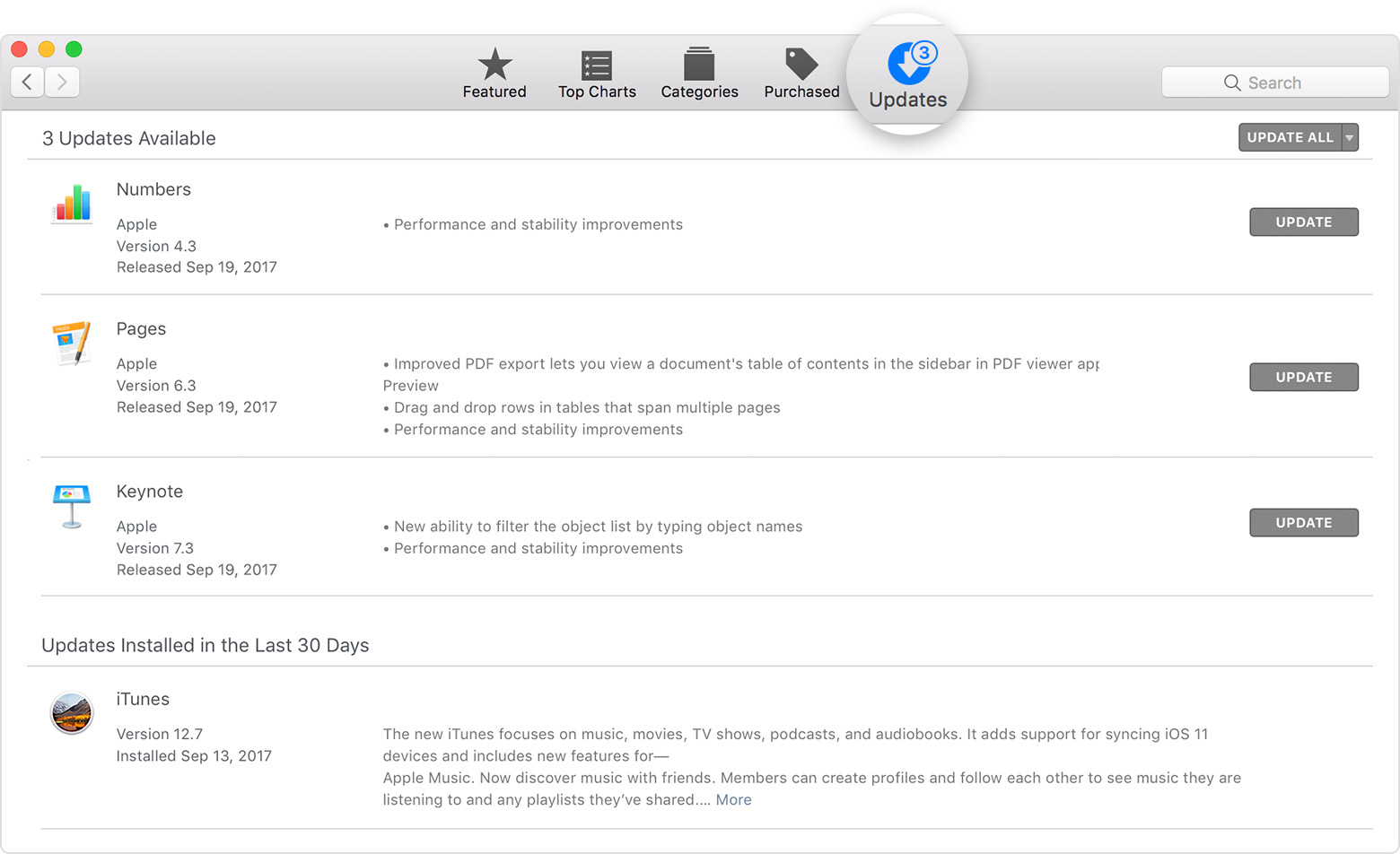 Updating apps from multiple itunes accounts