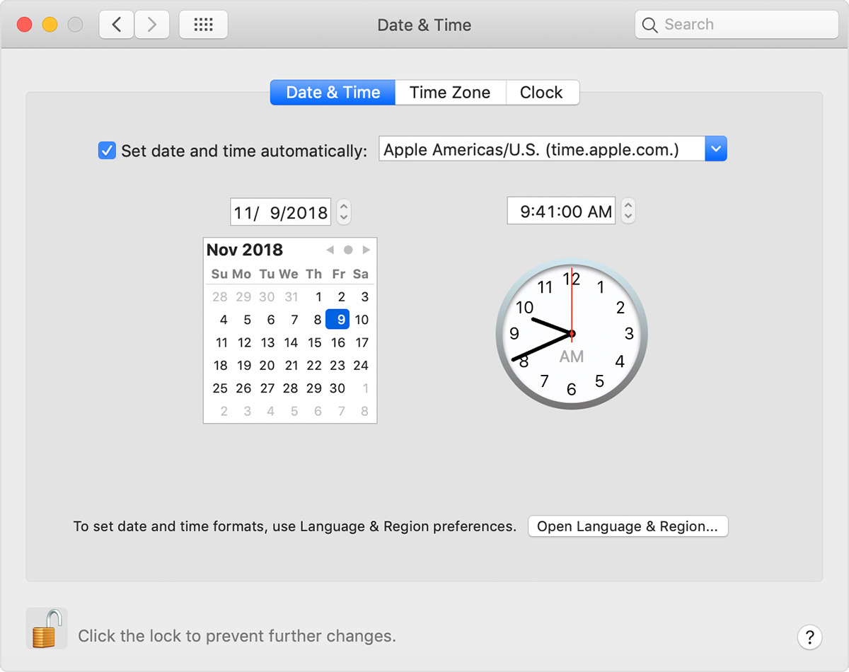 If the date or time is wrong on your Mac - Apple Support