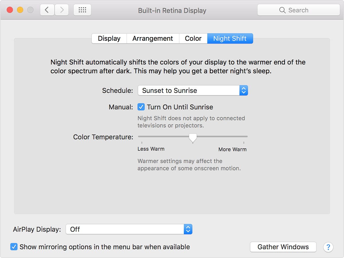 How to use Night Shift on your Mac - Apple Support