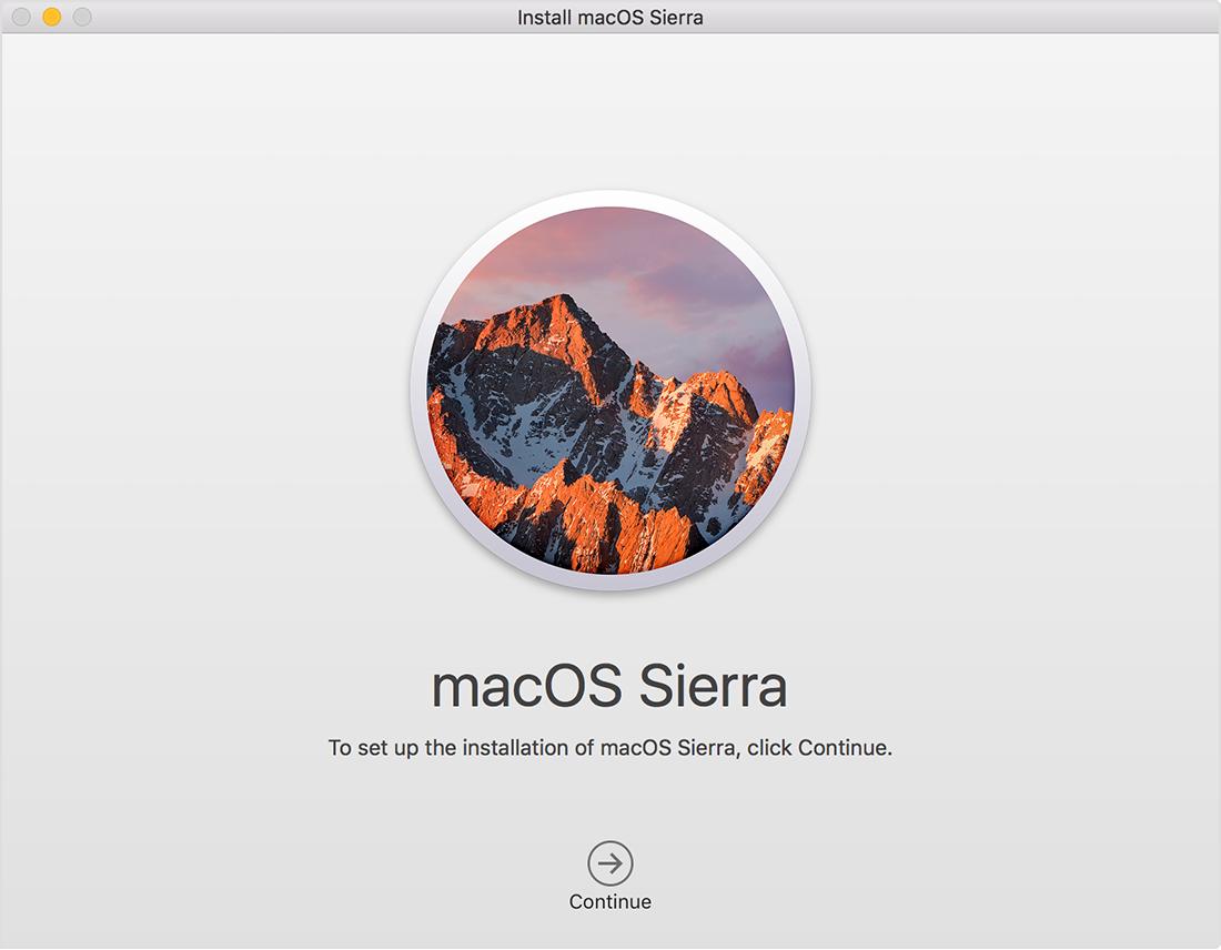 Почему не устанавливается mac os sierra