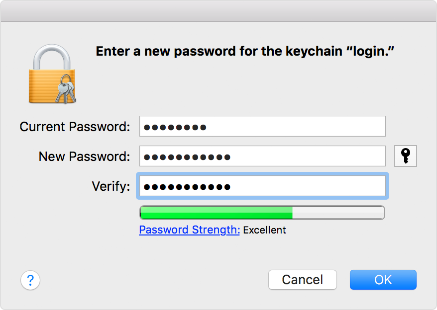 Enter the new password of your user account in the New Password field. This  is the password you re now using to log in to your Mac. 17d8337a7
