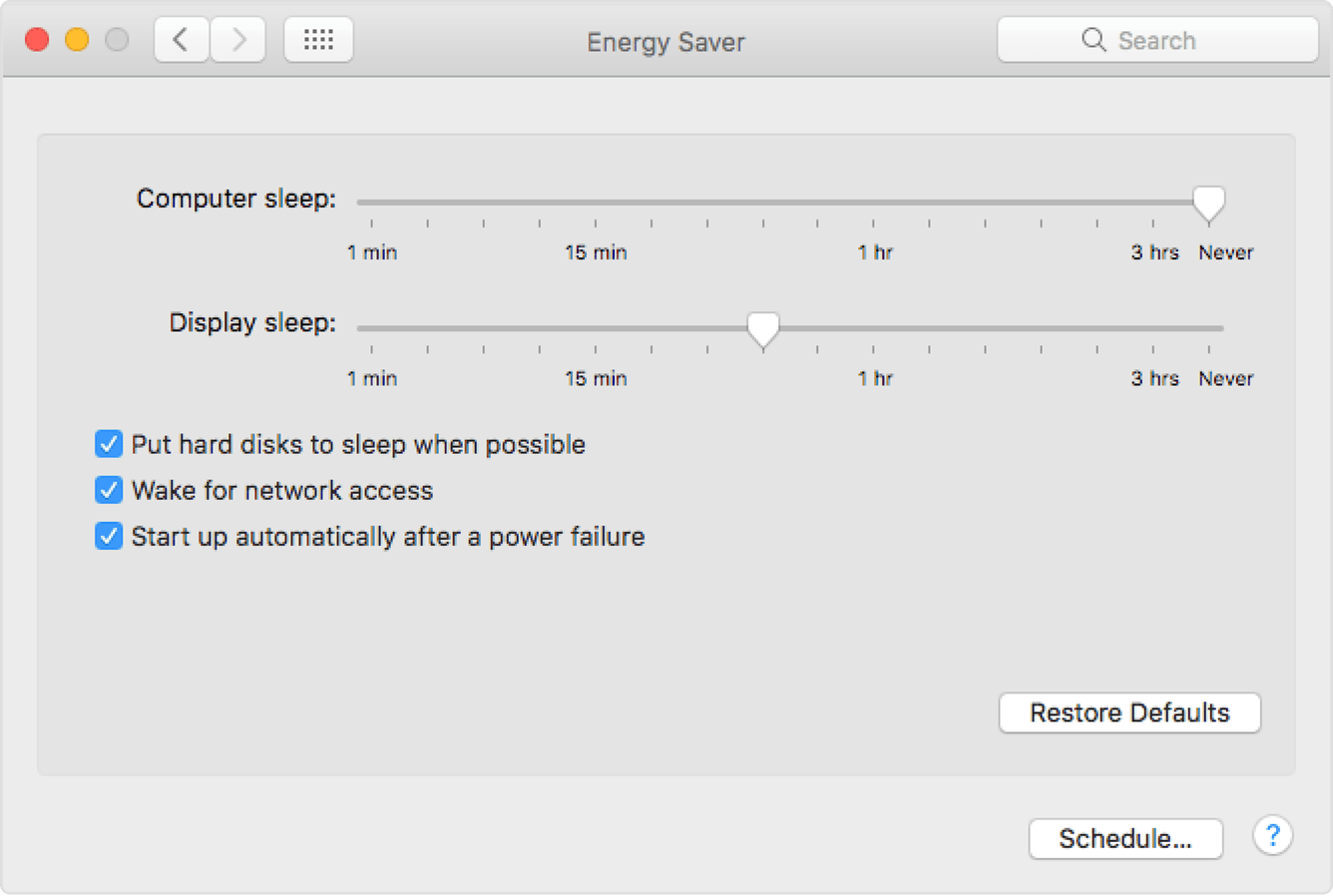 Image result for energy saver mac