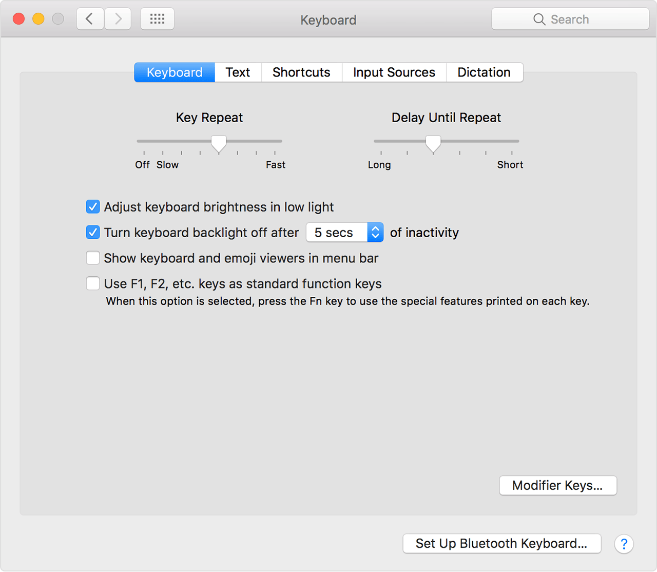 Adjust the brightness of your backlit keyboard - Apple Support
