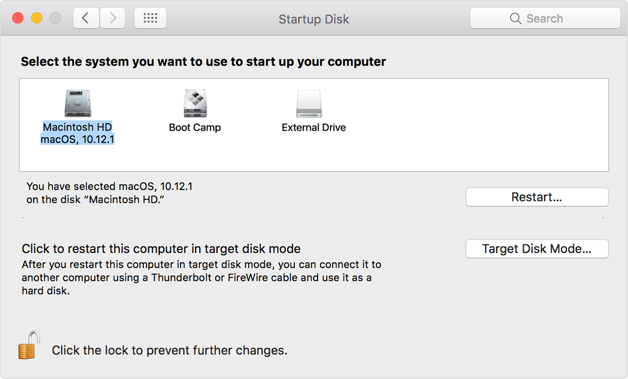 How to select a different startup disk - Apple Support