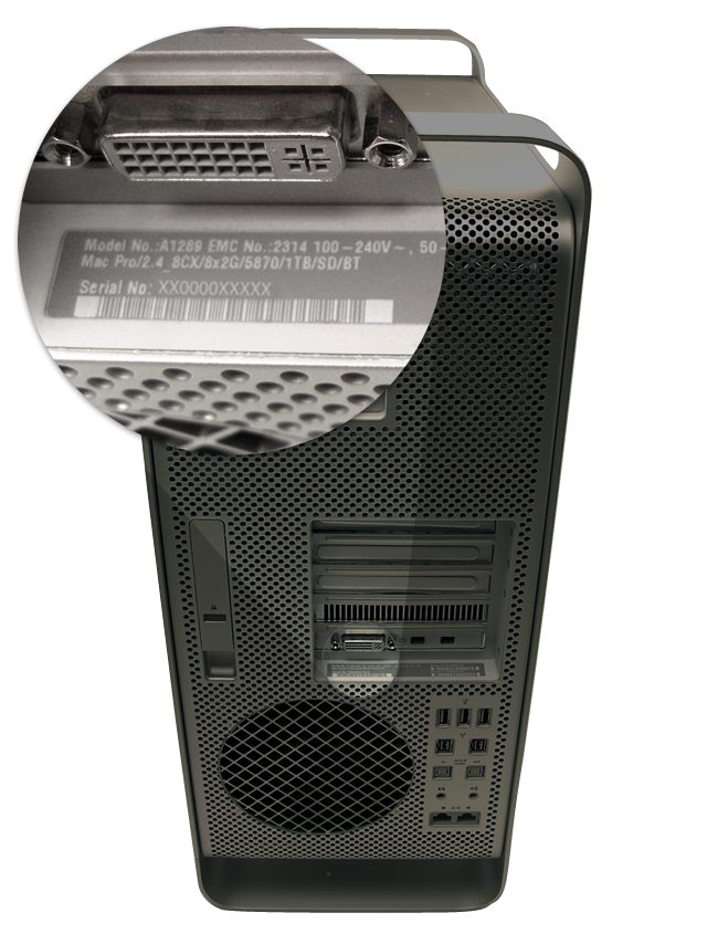 Find serial number on mac pro