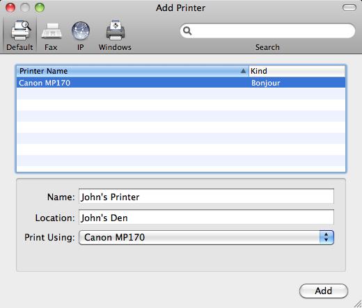 принтер для mac os