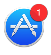 App Store icon with red badge