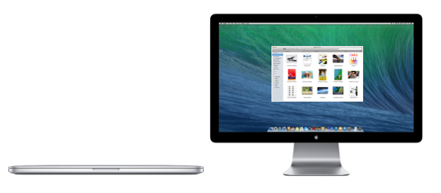 Mac and external display in closed lid configuration