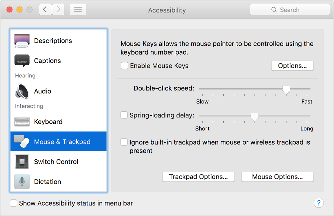 Adjust double-click and scrolling speed of your mouse or