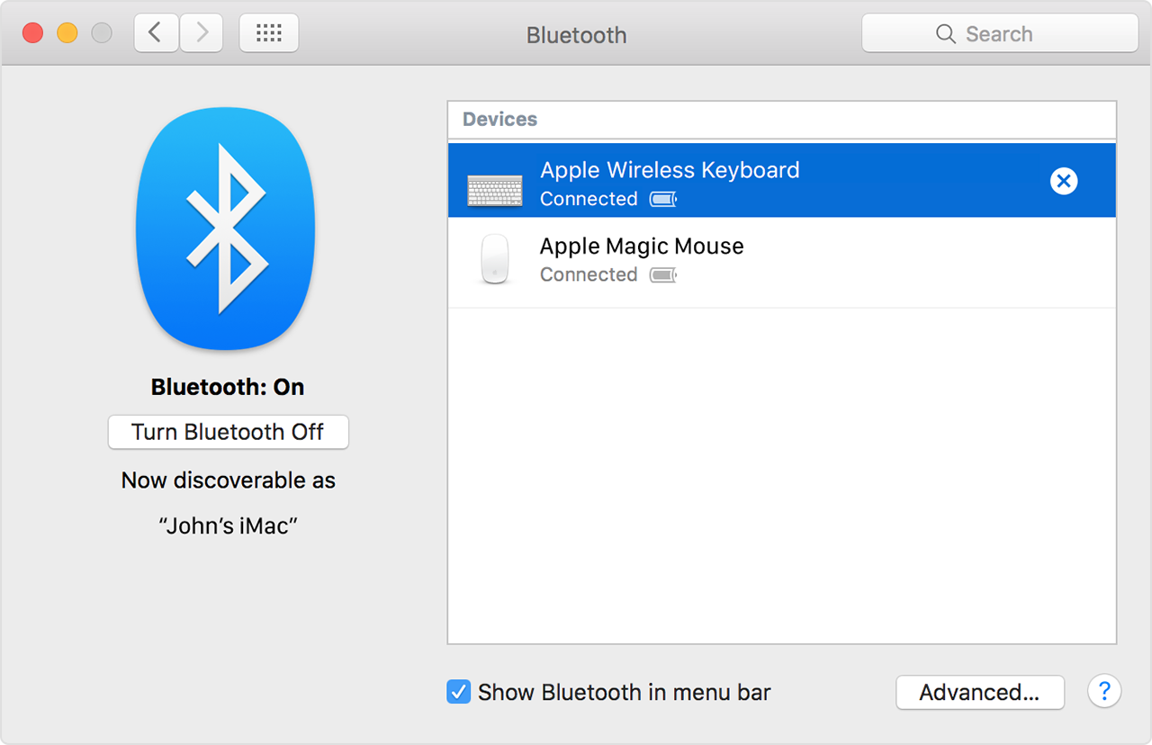 Using A Bluetooth Mouse Keyboard Or Trackpad With Your Mac Apple