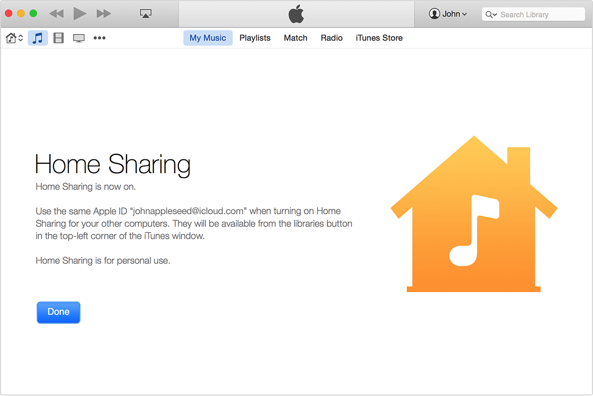 Using Home Sharing To Transfer Itunes Library