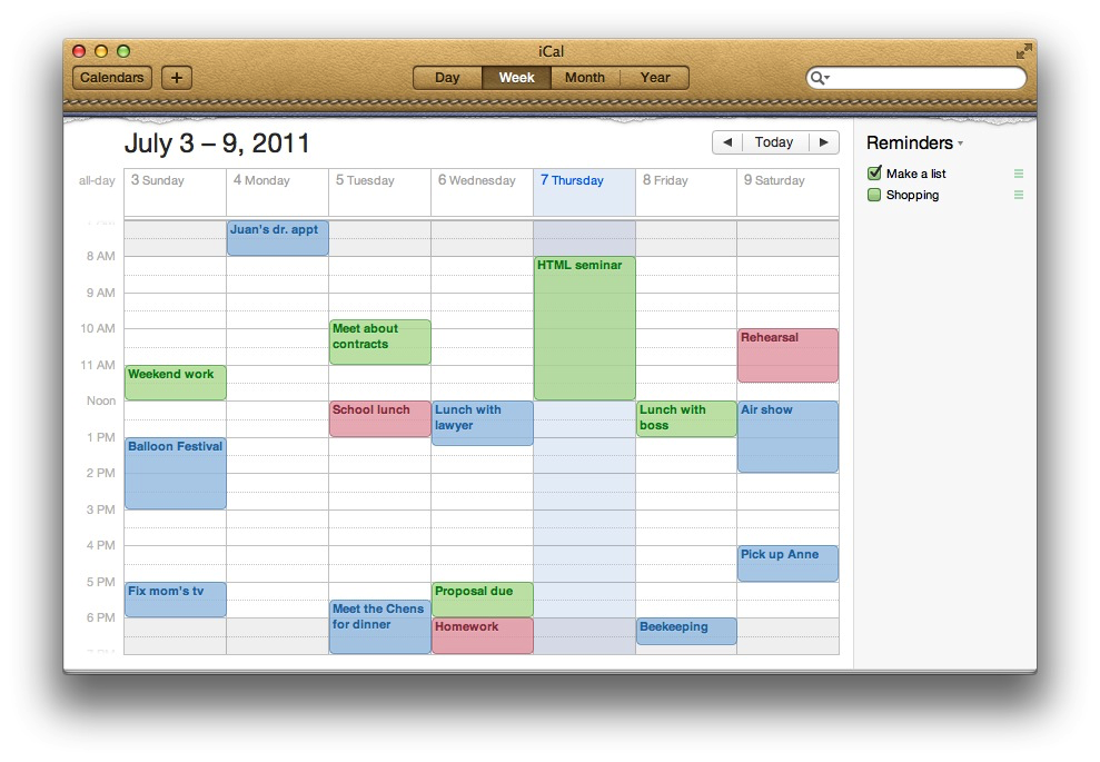 Calendar Design Mac : Mac basics ical os lion and earlier apple support