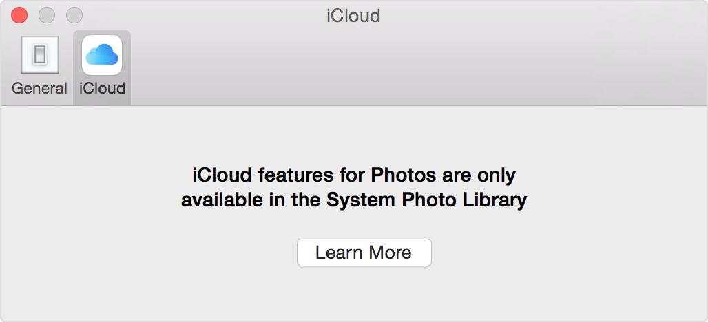 การตั้งค่า iCloud ใน รูปภาพ