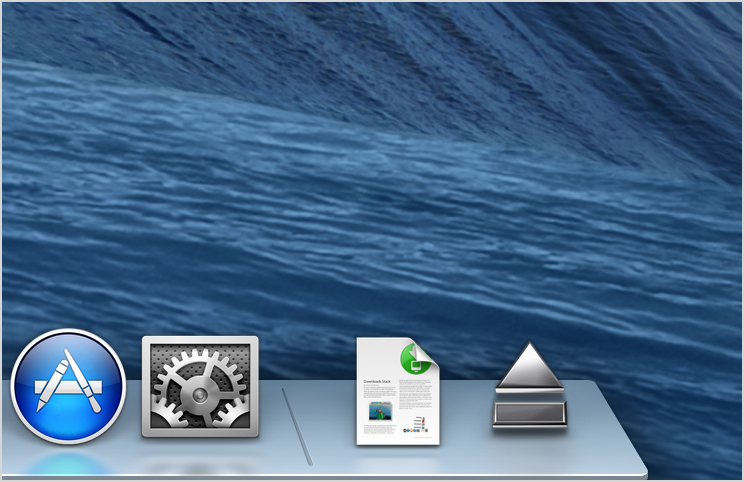 eject icon in dock