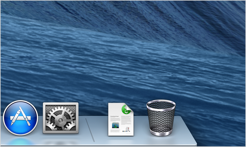 the trash icon in the dock