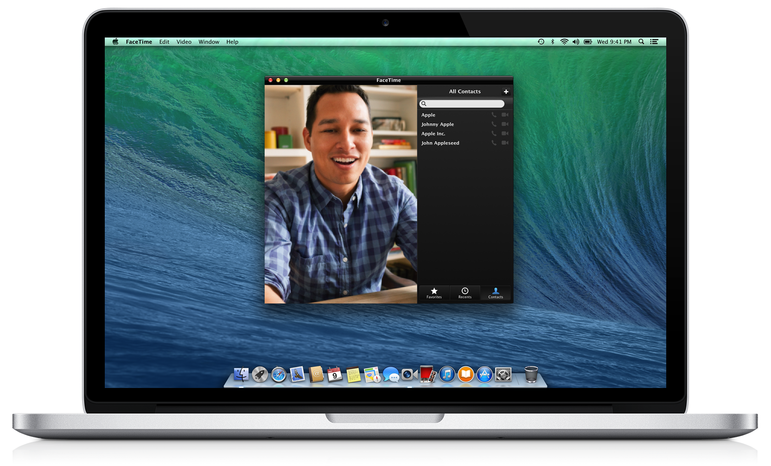 Mac using FaceTime with built-in camera