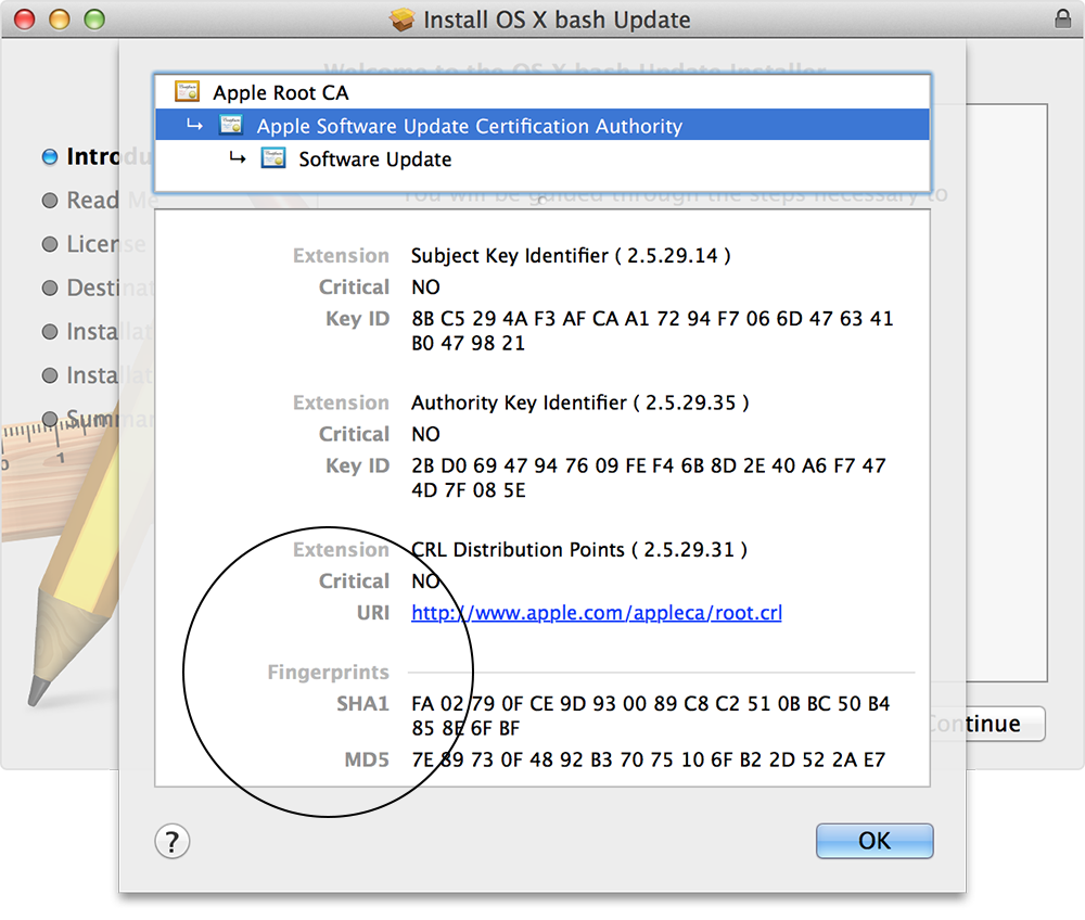 How to verify the authenticity of manually downloaded Apple software