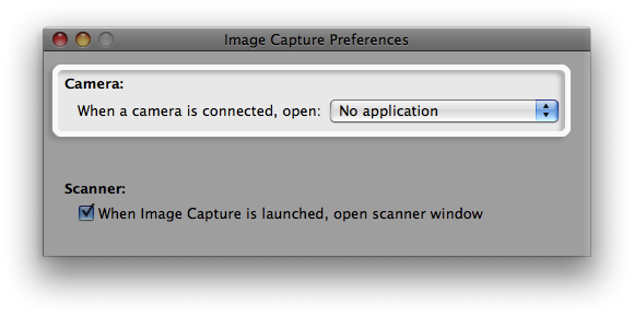 Image Capture preferences