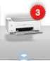 printer ready with 3 items in queue icon