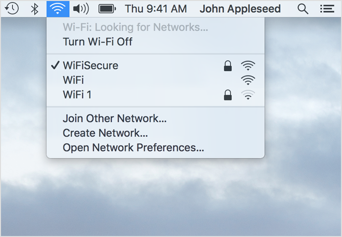 Join wi-fi secure on Mac