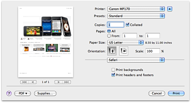 print dialog more options